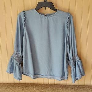 Zara Woman blouse size medium light blue